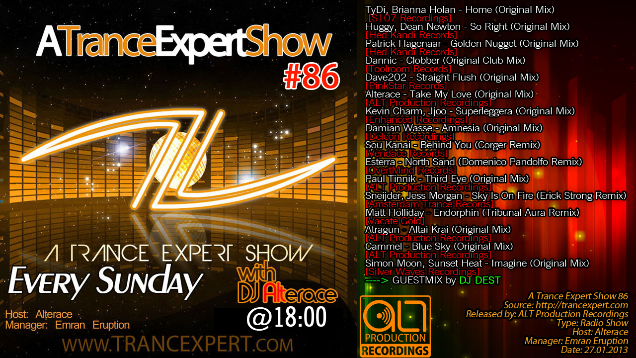 Alterace - A Trance Expert Show 86