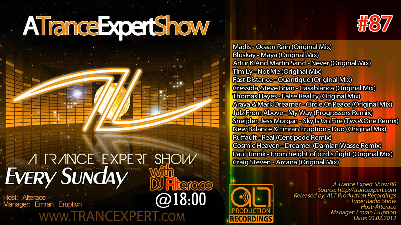 Alterace - A Trance Expert Show 87