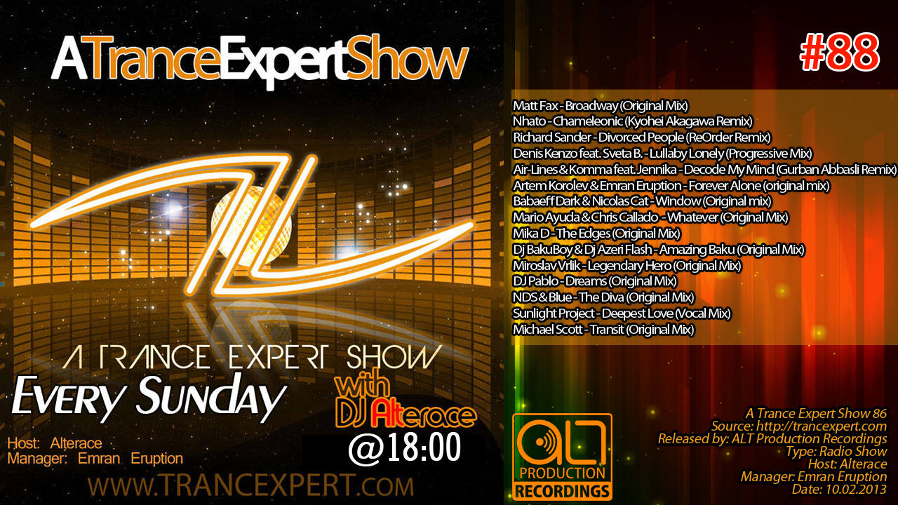 A Trance Expert Show 88