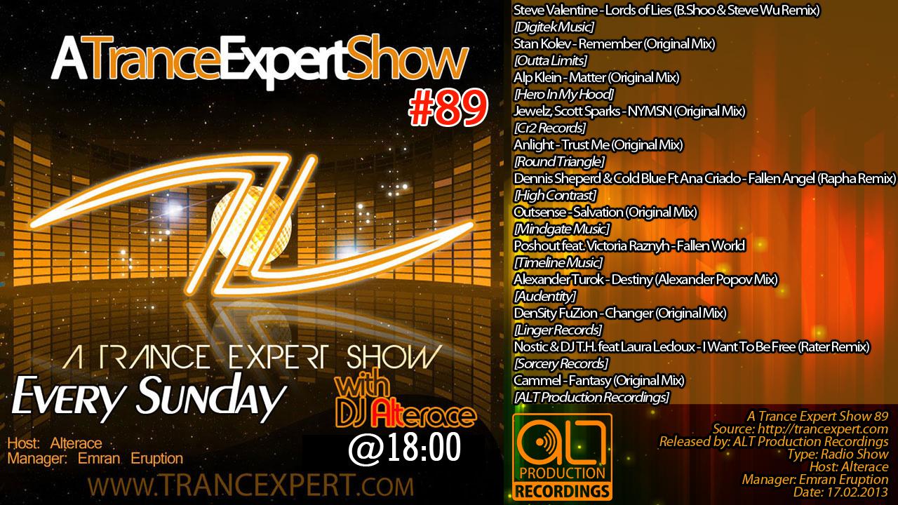 A Trance Expert Show 89